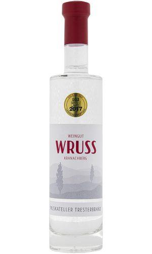 Premium Muskateller Tresterbrand vom Weingut Wruss.